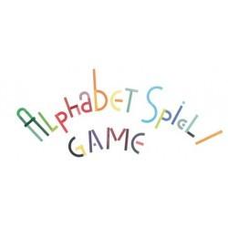 Piezas de madera alfabeto.