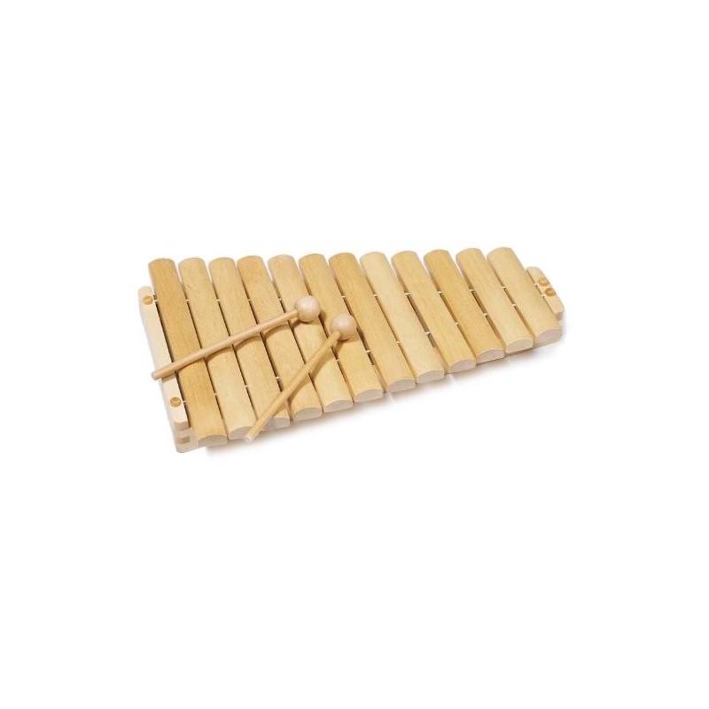 Xilófono de madera.