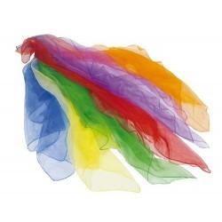 6 foulares de colores