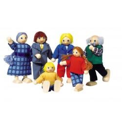 Familia de muñecos articulados