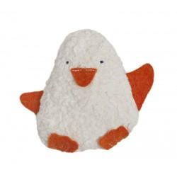 Sonajero pingüino de algodón orgánico