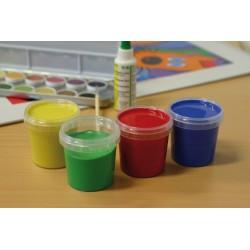 Pintura de dedos natural Ökonorm (Rojo,verde,amarillo y azul)