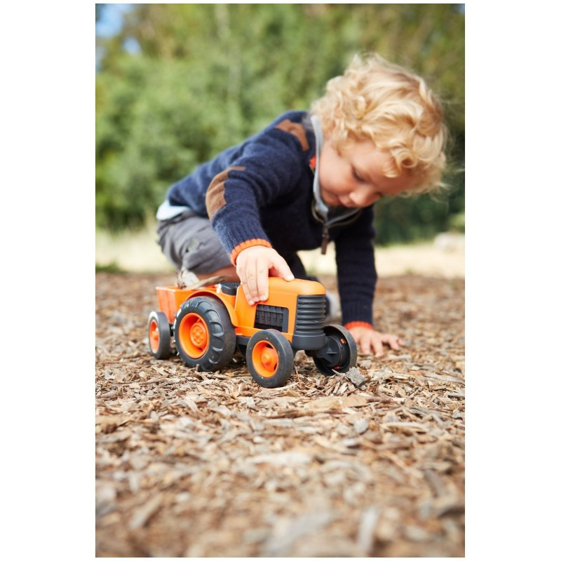 Tractor con remolque Green toys