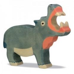 Hipopótamo- Animal de madera