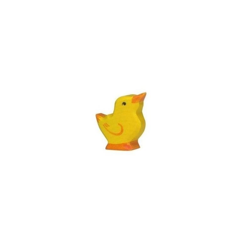 Pollito- Animal de madera