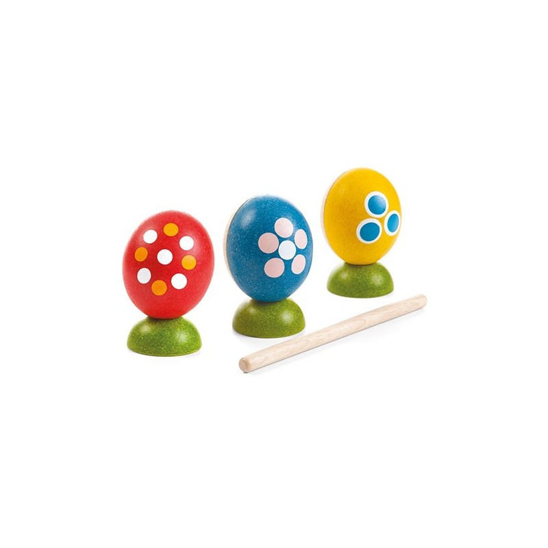 Huevos set de percusión Plan toys