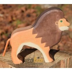 León- Animal de madera