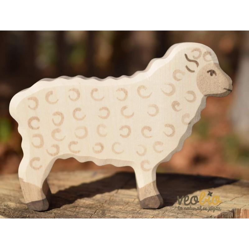 Oveja- Animal de madera