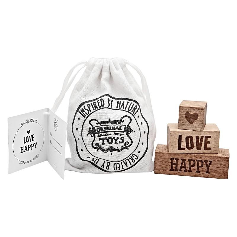 Cubos con mensaje Love