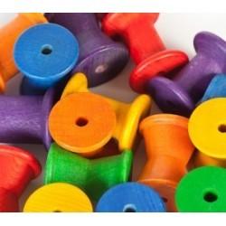 Conjunto de carretes de colores