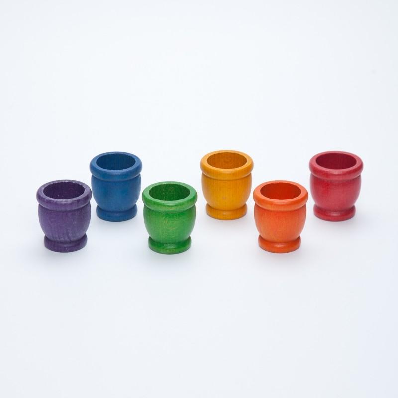 6 cubiletes arco iris