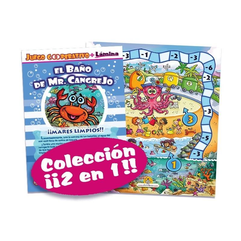Juego cooperativo El baño de Mr cangrejo !mares limpios¡