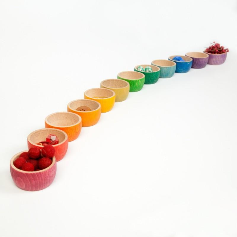 12 cuencos arco iris