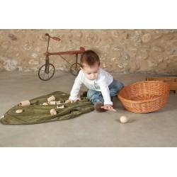 Materiales de madera para canasta de los tesoros