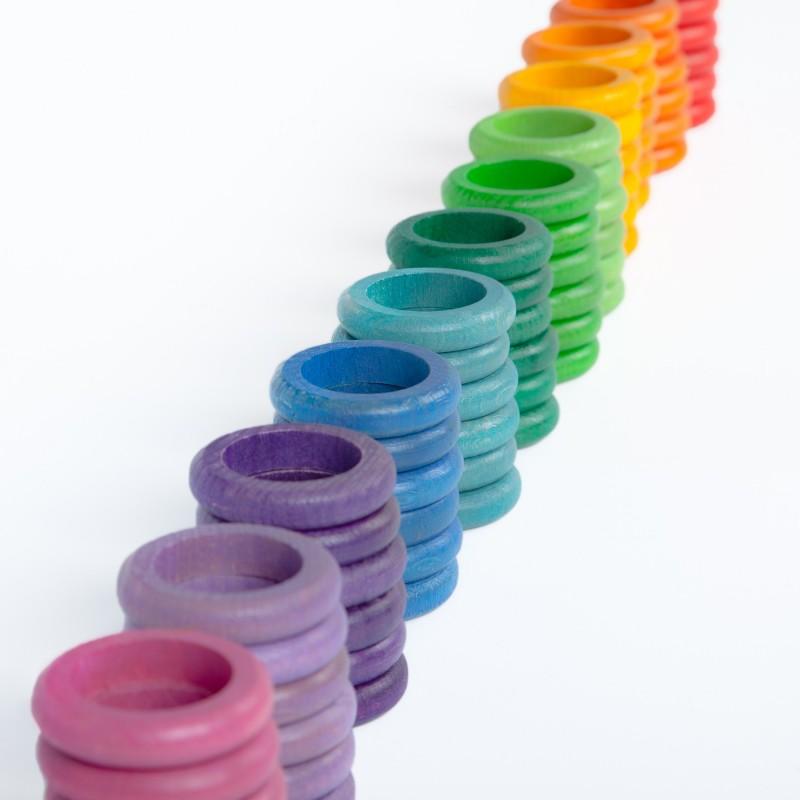 72 anillas de colores