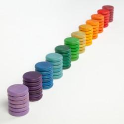 72 monedas de colores