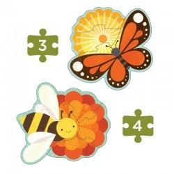 Mis primeros puzzles Insectos del jardín