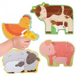 Mis primeros puzzle Bebés de la granja