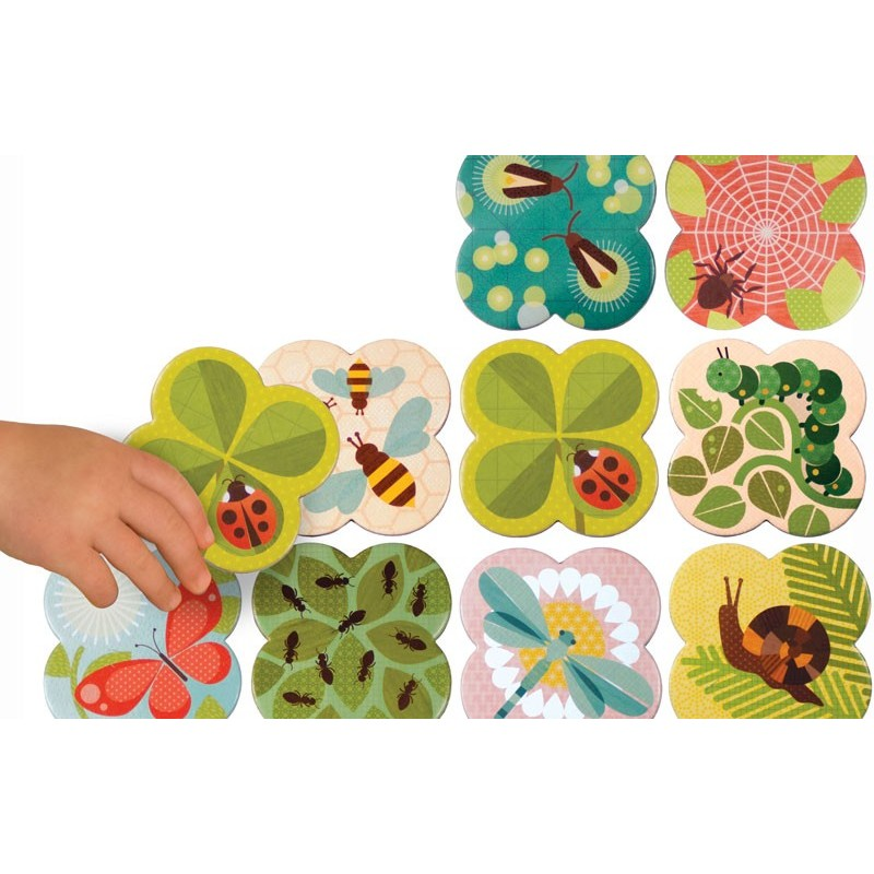 Juego de memoria Insectos y plantas