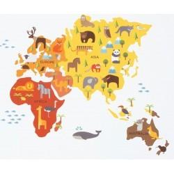 Vinilo de tela Mapa Mundi