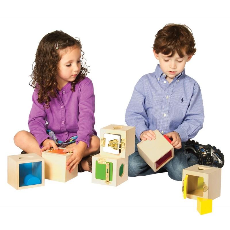 Cajas con cierre Peekaboo de Guidecraft