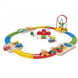 Circuito de Trenes Encajable Musical