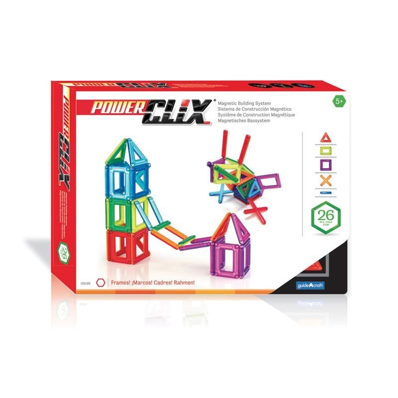Piezas magnéticas Power Clix 26 piezas