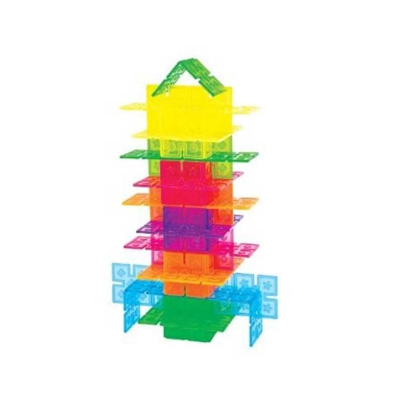 96 piezas translucidas