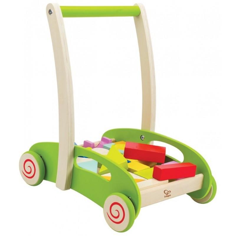 Caminador de madera con bloques