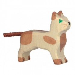 Gato marrón- Animal de madera