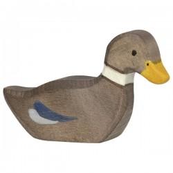 Pata nadando - Animal de madera