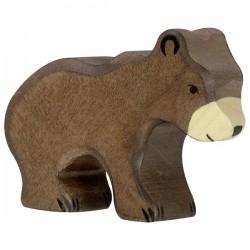Oso marrón pequeño - Animal de madera