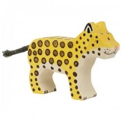 Leopardo pequeño- Animal de madera