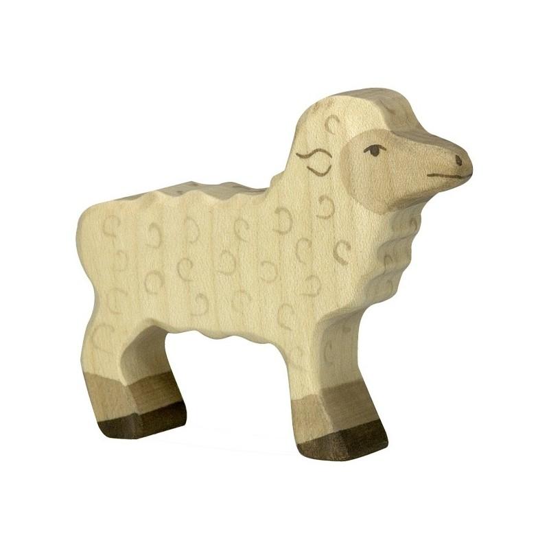 Cordero - Animal de madera