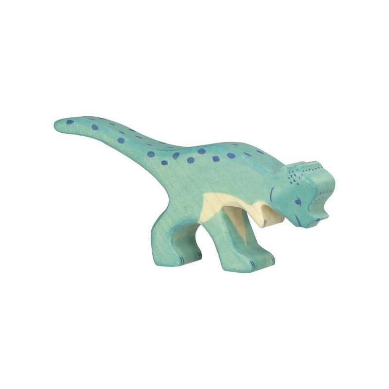 Dinosaurio Pachicephalosaurio - animal de madera