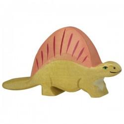 Dinosaurio Dimetrodon- Animal de madera