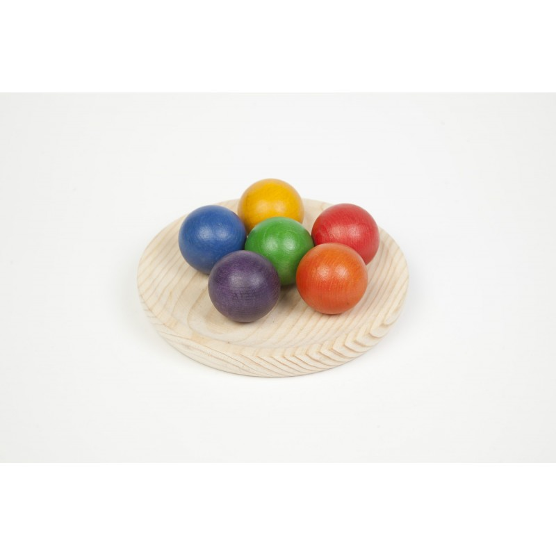 6 bolas de madera Grapat