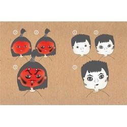 Kit de maquillaje Bio Namaki 3 colores Diablo y Vampiro