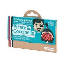 Kit de maquillaje Bio Namaki 3 colores Pirata y Mariquita
