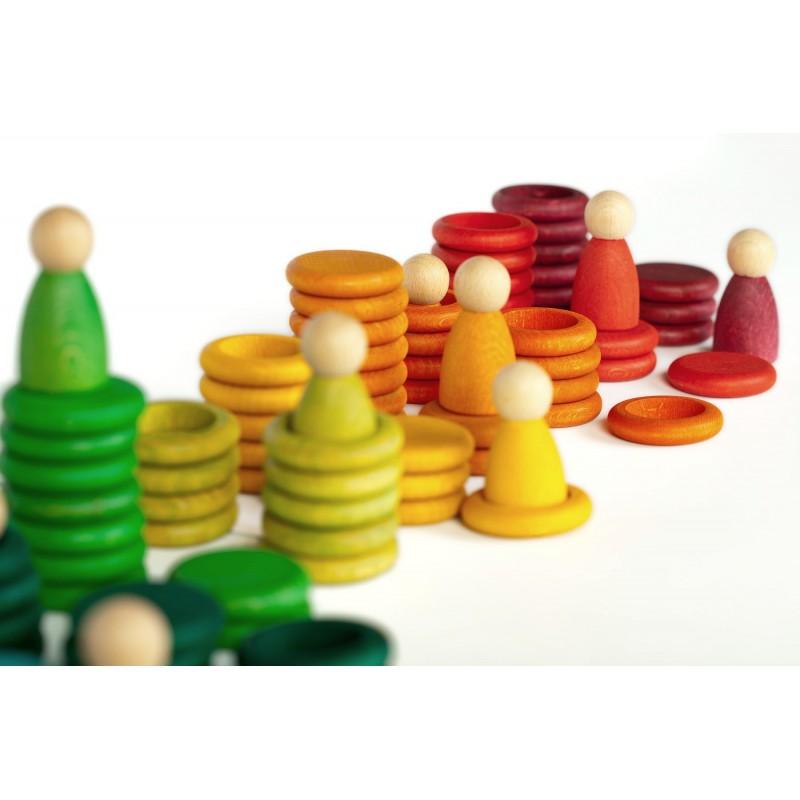 """12 Nins con anillas y monedas """"Carla""""(120 piezas)"""