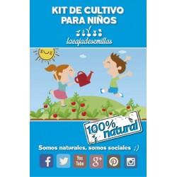 Kit de cultivo para niños con semillas Ecológicas
