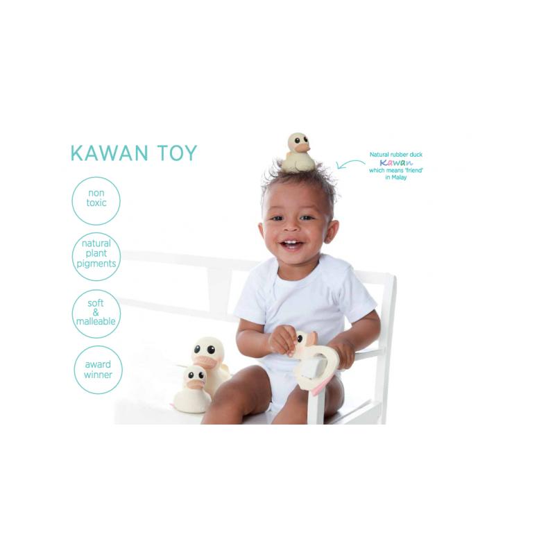 Kawan pato de caucho natural de hevea para el baño (Mini)