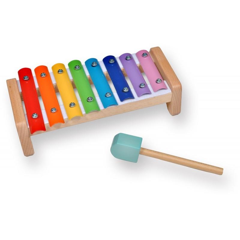 Xilófono de madera de colores