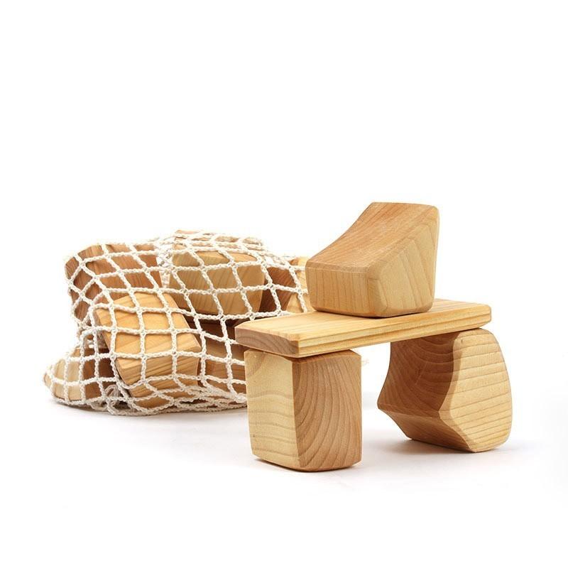 15 bloques de madera natural Waldorf