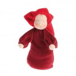 Muñeca lavanda roja.