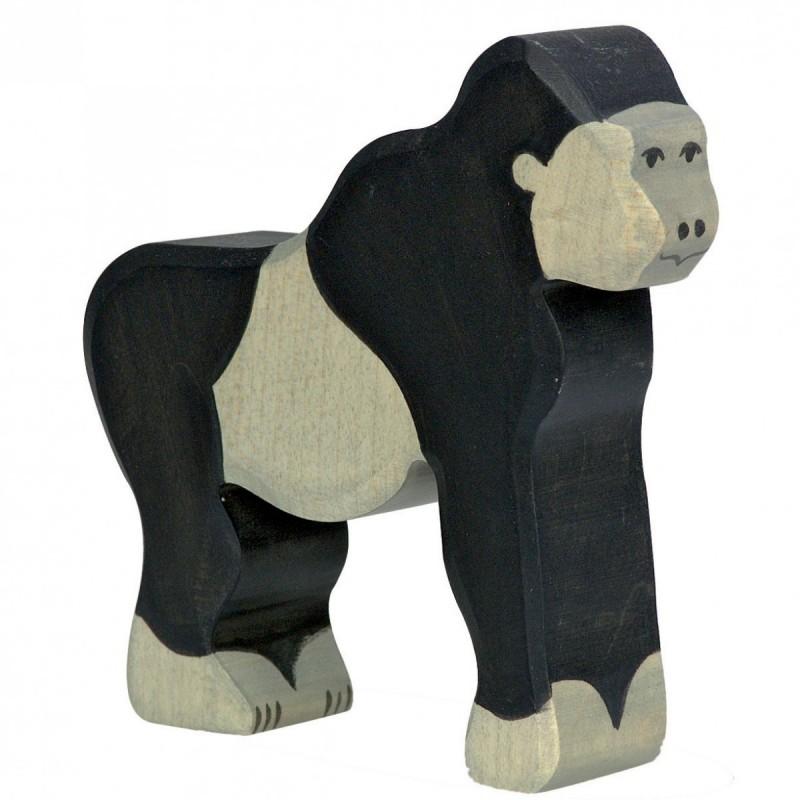 Gorila- Animal de madera