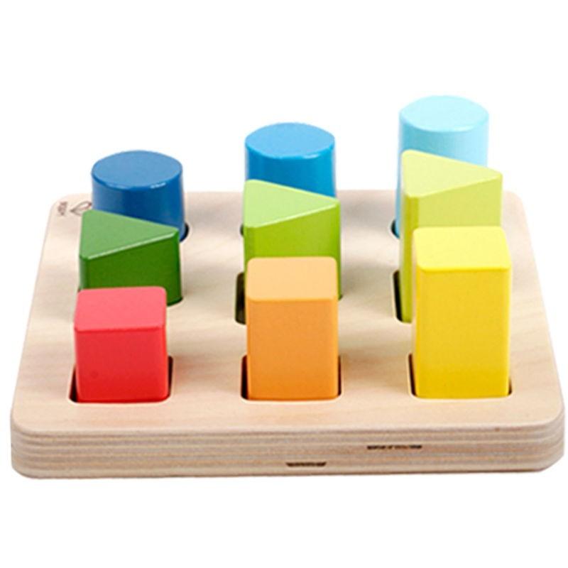 Puzzle clasificador de colores, formas y tamaños
