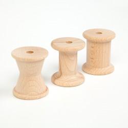3 Carretes de madera
