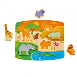 Puzzle encajable animales salvajes