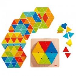 Triángulos mágicos, juego de composición